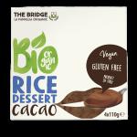 Био оризов десерт с какао The Bridge 4x110гр