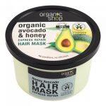 Възстановяваща маска за коса с авокадо и мед Organic Shop 250 мл