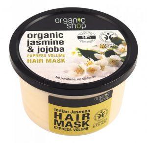 Маска за обем с Индийски жасмин Organic Shop 250 мл