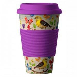 """Еко чаша от бамбук """"Птички"""" 400 мл"""