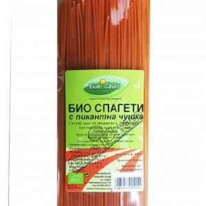 Био Спагети с пикантна чушка Биосвят 500 гр.