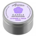Ароматна свещ Лавандула и кедър Арвена