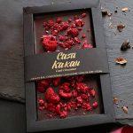 Черен веган шоколад с малини Casa Kakau